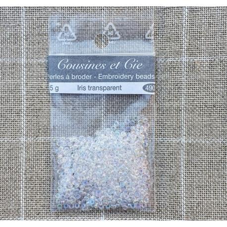 Transparent Iris 4900. Perlas para bordar. Cousines et Cie