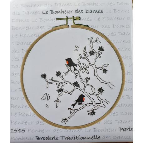 Oiseaux. Kit completo 15 cm x 15 cm
